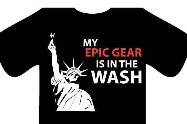 Penyertaan Peraduan #                                        90                                      untuk                                         Gaming theme t-shirt design wanted – Epic Gear