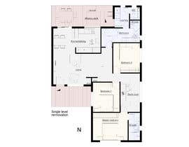 nº 11 pour Architectural floor plans / concepts for renovation par lesiapetrovska