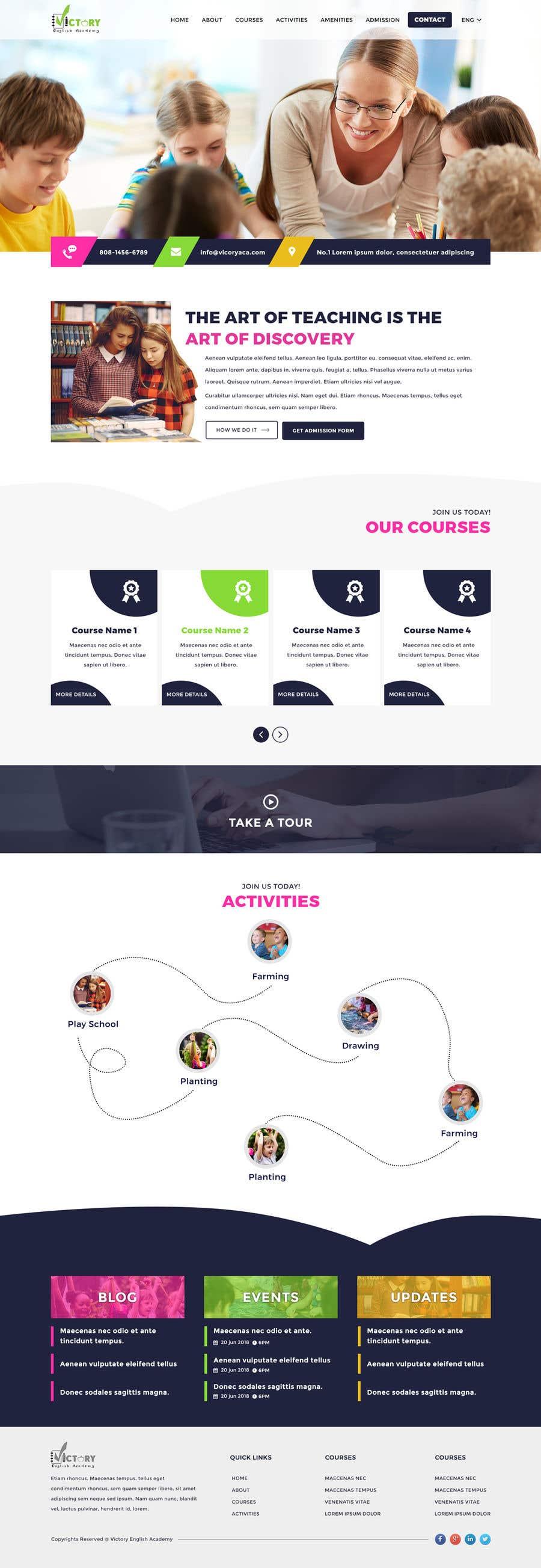 Konkurrenceindlæg #5 for Victory Academy Web Design
