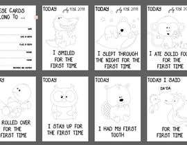#50 untuk Design Milestonecards for Babies oleh FOFADesign