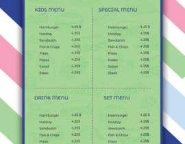 #12 for Kids Menu Design Templates by TH1511