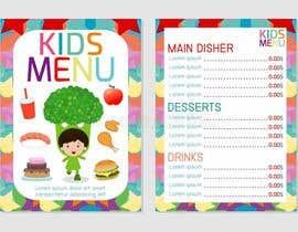 #34 for Kids Menu Design Templates by asifnaim