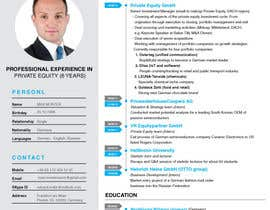 #21 for Improve Design (UX/UI) of CV ( Curriculum Vitae) in finance sektor by mustafagraphic01