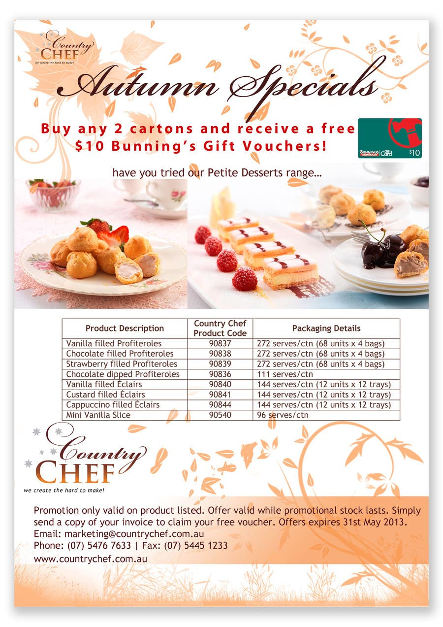 #23 for Graphic Design for Country Chef Desserts by Sidratul01