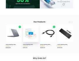 #7 untuk Design a Website Landing page for a Tech Retail store. oleh zaxsol
