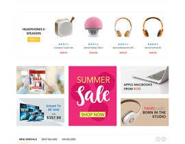 #13 untuk Design a Website Landing page for a Tech Retail store. oleh Benemma