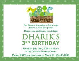 #24 for Kid's birthday party invitation by TINKERSMIND