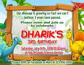 #8 for Kid's birthday party invitation by evanneri