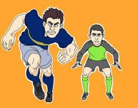 #22 for Soccer players ilustrations af berragzakariae
