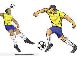 #21 for Soccer players ilustrations af Arfankha