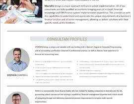 #27 for I need to develop a 1 page Company / Consultant Profile af yunitasarike1
