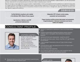 #14 for I need to develop a 1 page Company / Consultant Profile af Ashik0682