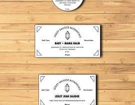 #60 untuk Redesign 2 editable labels and business card for my health & beauty business. oleh MPotato