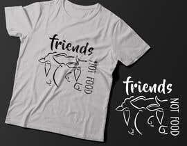 """Nro 18 kilpailuun Vegan tattoo - """"Friends Not Food"""" käyttäjältä Exer1976"""