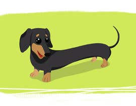#25 untuk Create a CUTE illustration of a dog (must be original) oleh vijayrai1989