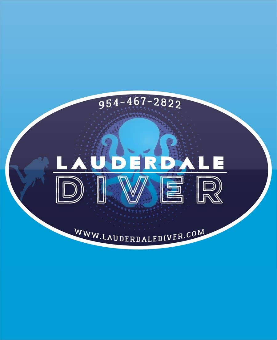 Contest entry 19 for design new sticker for dive shop 2
