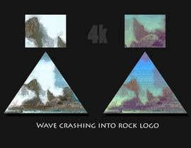 #11 para Wave crashing into rock logo de zaeemiqbal