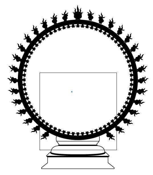 Entry #9 by palashbdlive for Draw a vector image of Nataraja