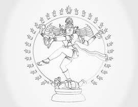 #12 para Draw a vector image of Nataraja (Dancing Shiva) in black and white por Sico66