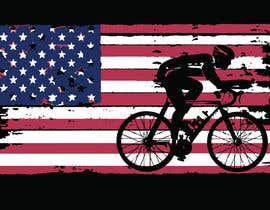 #7 para Graphic Design USA Flag with a Road Cyclist por GregAlexanderIII