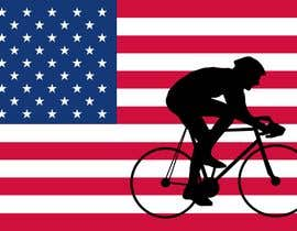 #2 para Graphic Design USA Flag with a Road Cyclist por stebo192