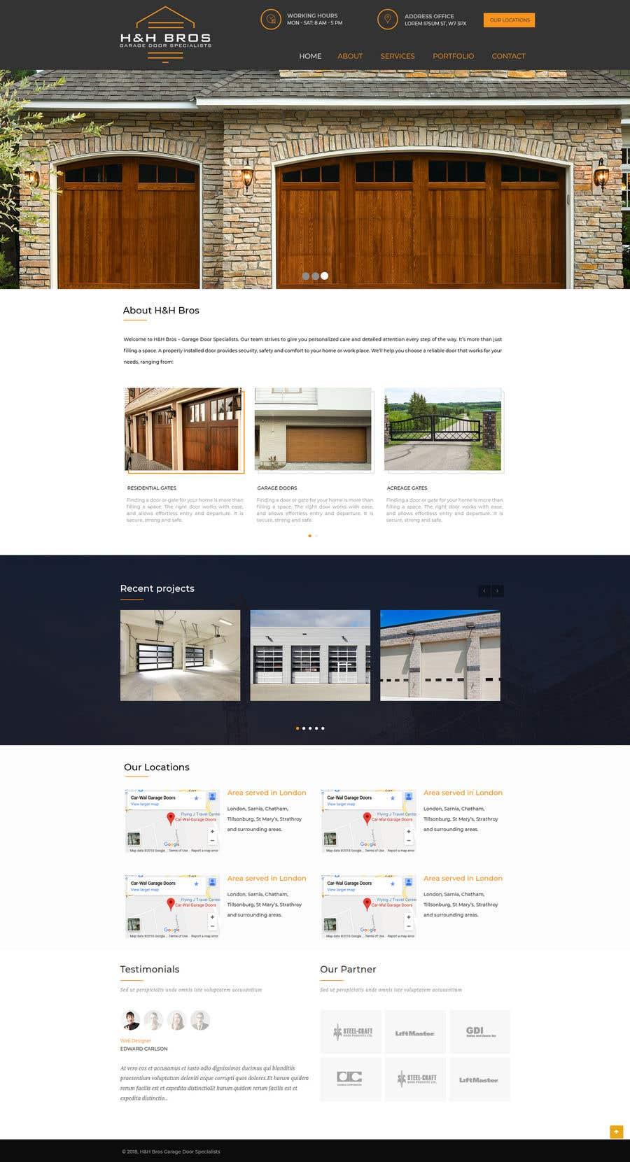 Proposition n°10 du concours Wordpress Theme for Garage door 1 of 3