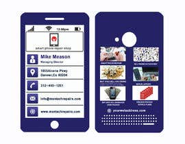 #80 untuk Need business cards template for mobile cell phone/computer repair/ pawn shop store oleh creativeworker07