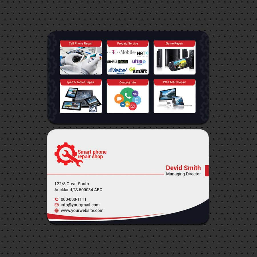 Contest entry 20 for need business cards template mobile cell phone contest entry 20 for need business cards template mobile cell phone computer repair cheaphphosting Image collections