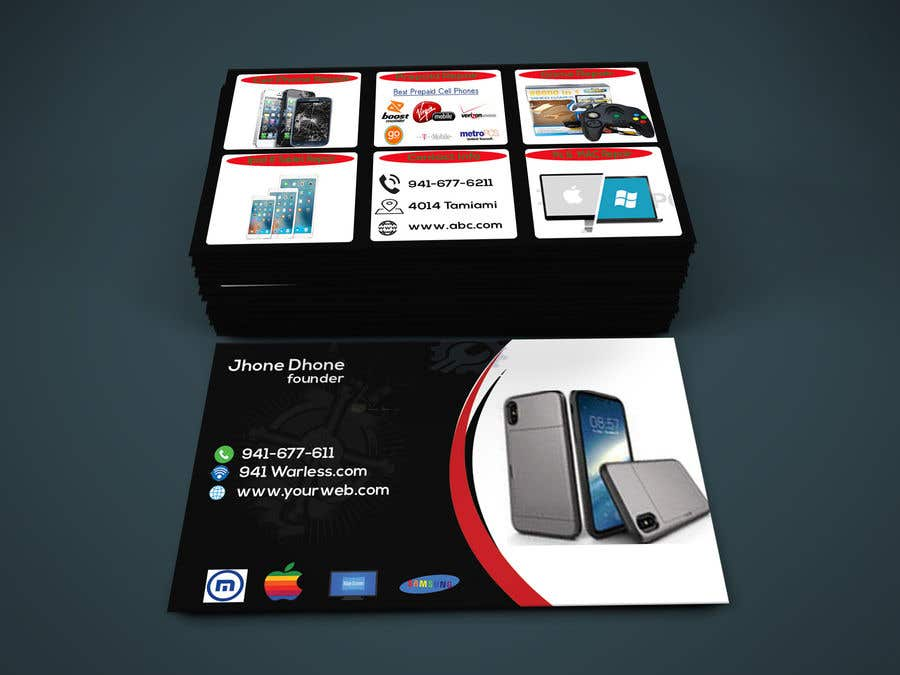 Entry 82 By Ezabul For Need Business Cards Template For Mobile Cell