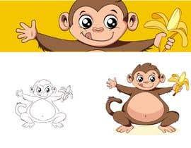 #22 for Original Cute Chubby Monkey af YasserElgazzar