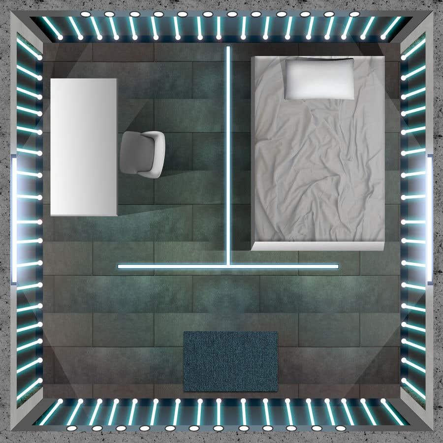 Contest Entry #8 for Design a top-down futuristic prison cell