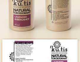 #6 pentru Natural Deodorant label design de către frontrrr