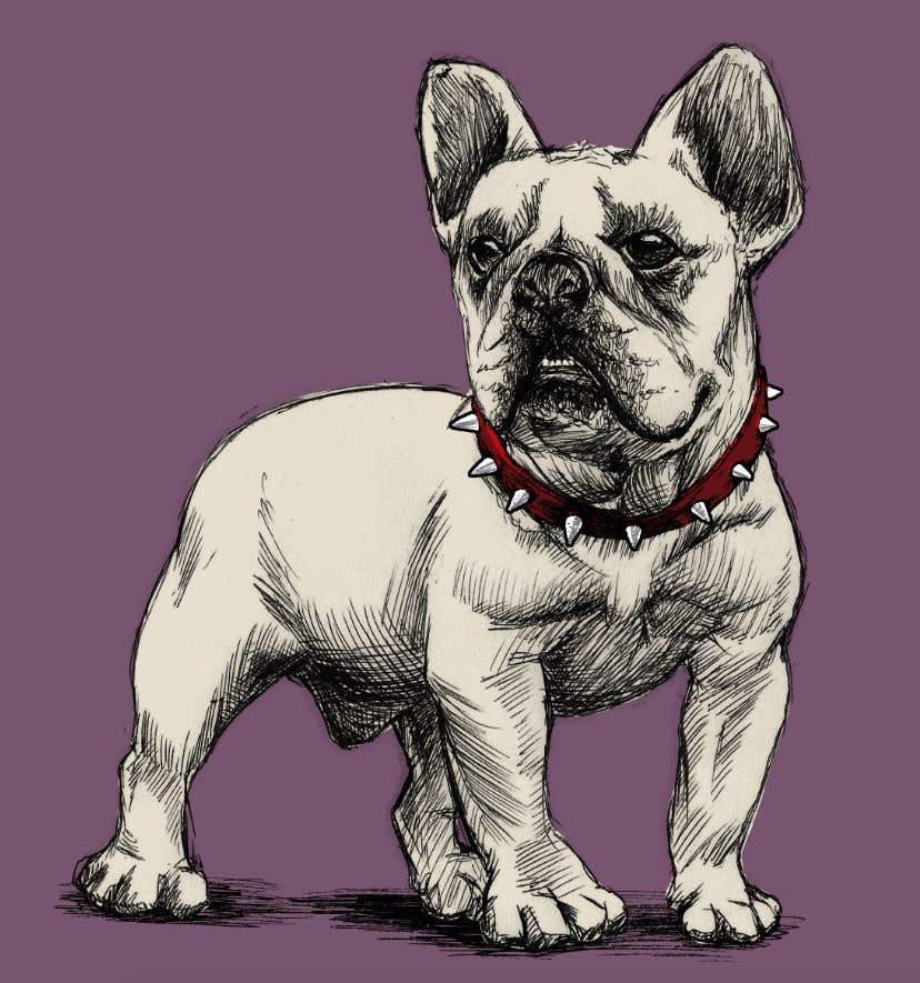 Proposition n°18 du concours Illustrate a french Bulldog - Hand Drawn