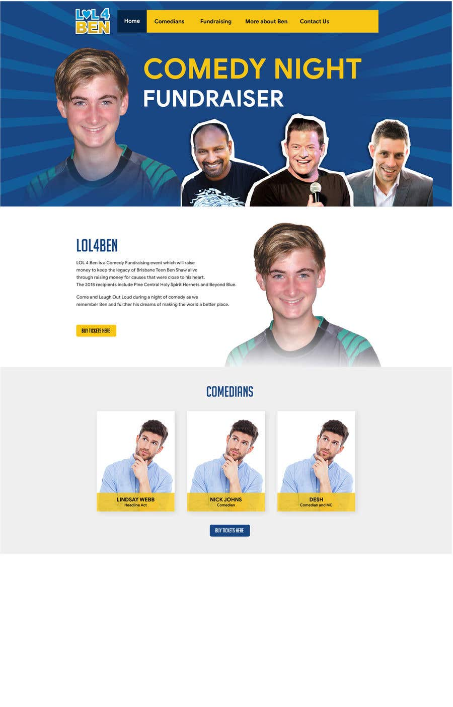 Entry 3 By Ayanmukhopadhyay For Lol 4 Ben Website Template Freelancer
