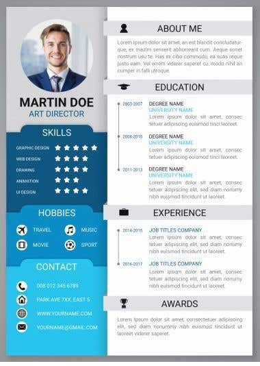 contest entry 18 for diseo de curriculum vitae