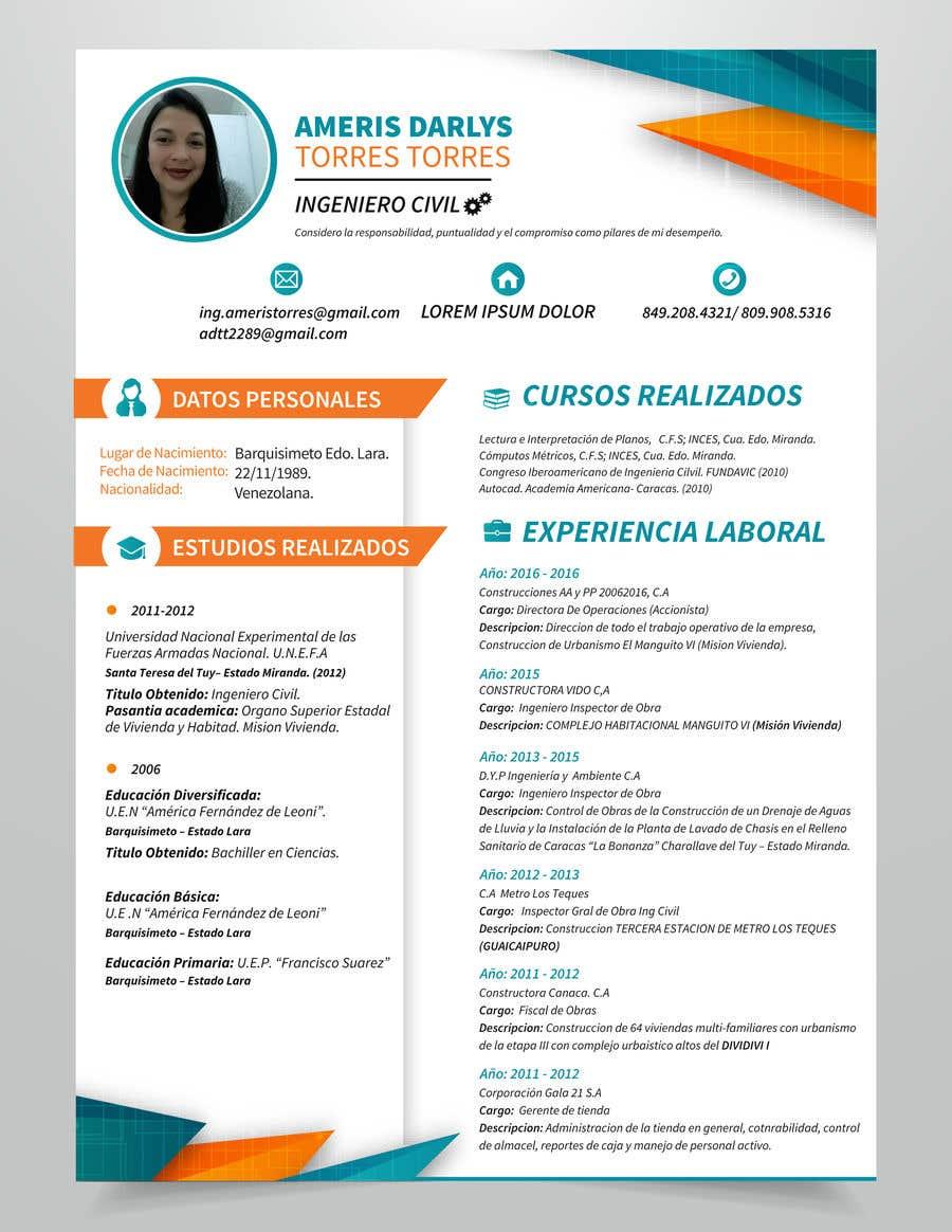 Entry 38 By Abigailyoselin20 For Diseno De Curriculum Vitae
