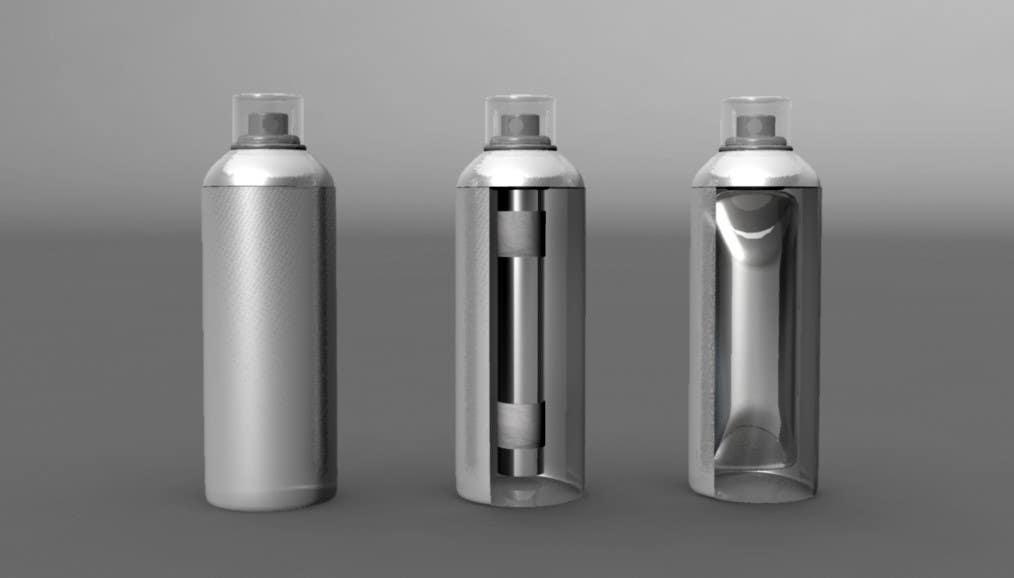 Конкурсная заявка №40 для Illustration to illustrate a new aerosol spray technology