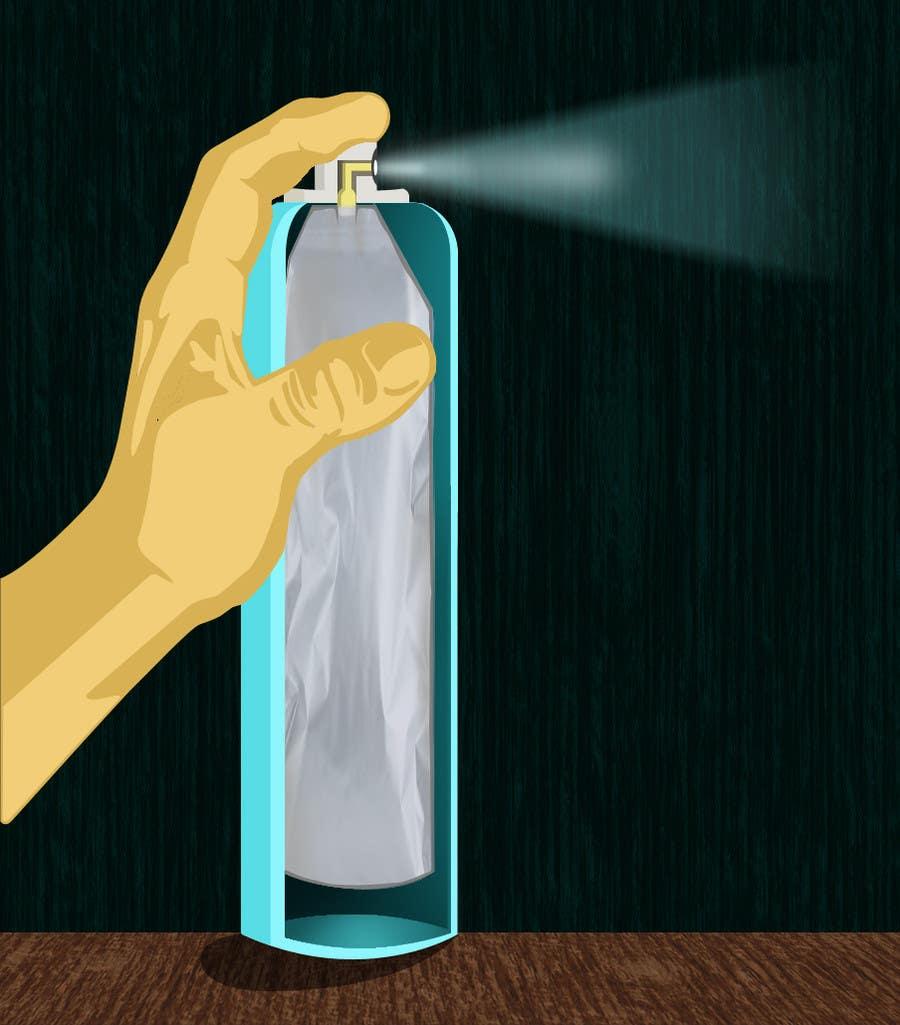 Inscrição nº                                         32                                      do Concurso para                                         Illustration to illustrate a new aerosol spray technology