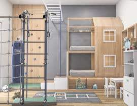 #17 untuk Interior design - Kids bedroom/playroom oleh salamonzsolt