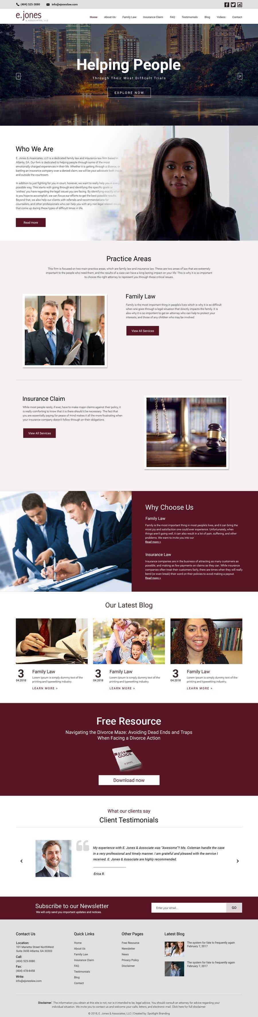 Proposition n°12 du concours Insurance Law Firm website