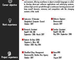 #4 dla Resume templates przez shuvo2k7
