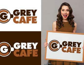 #9 for Logo design Its called Grey Cafe'. It will be selling snacks, sandwiches and sliders. The interior is concrete simple modern design.  The logo should not be circle as I am restricted to have 4mx1.4m signboard. by danieljimenez1
