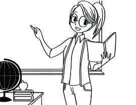 #13 para Design this girl as a teacher cartoon character. por wurfel