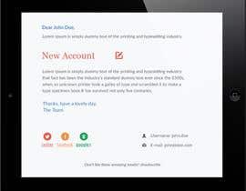 nº 13 pour Make a HTML email template par syrwebdevelopmen