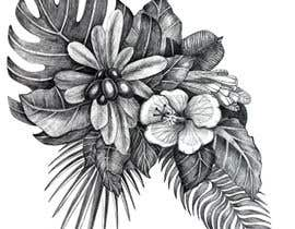 #58 untuk £100 for a Black and White hand or computer drawn tropical image of leaves, fruits and trees (see attached). oleh kiradaszkina