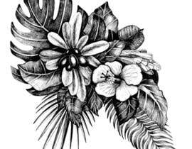 #59 untuk £100 for a Black and White hand or computer drawn tropical image of leaves, fruits and trees (see attached). oleh kiradaszkina