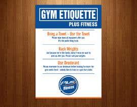 Nro 14 kilpailuun easy gym etiquette sign käyttäjältä teAmGrafic