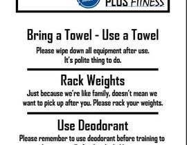 Nro 9 kilpailuun easy gym etiquette sign käyttäjältä jawadimtiaz
