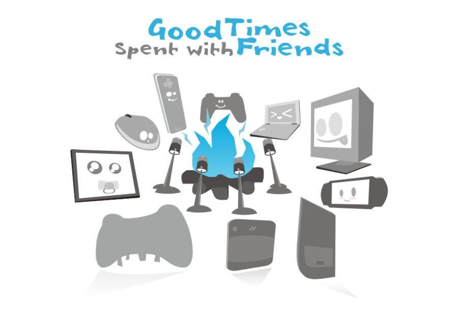 Конкурсная заявка №46 для Gaming theme t-shirt design wanted – Good Times Spent with Friends