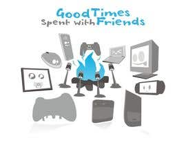 nº 46 pour Gaming theme t-shirt design wanted – Good Times Spent with Friends par epeslvgry